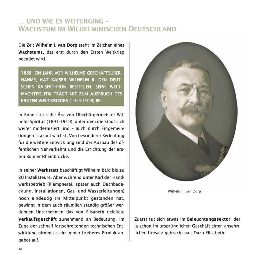 Einrichtungshaus vanDorp Bonn Geschichte Wachstum Wilhelminisches Deutschland
