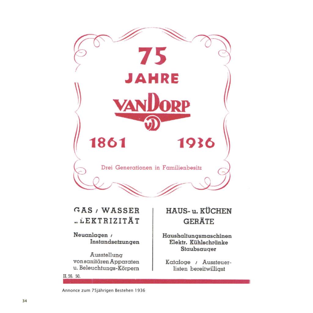Einrichtungshaus vanDorp Bonn Geschichte 75 Jahre