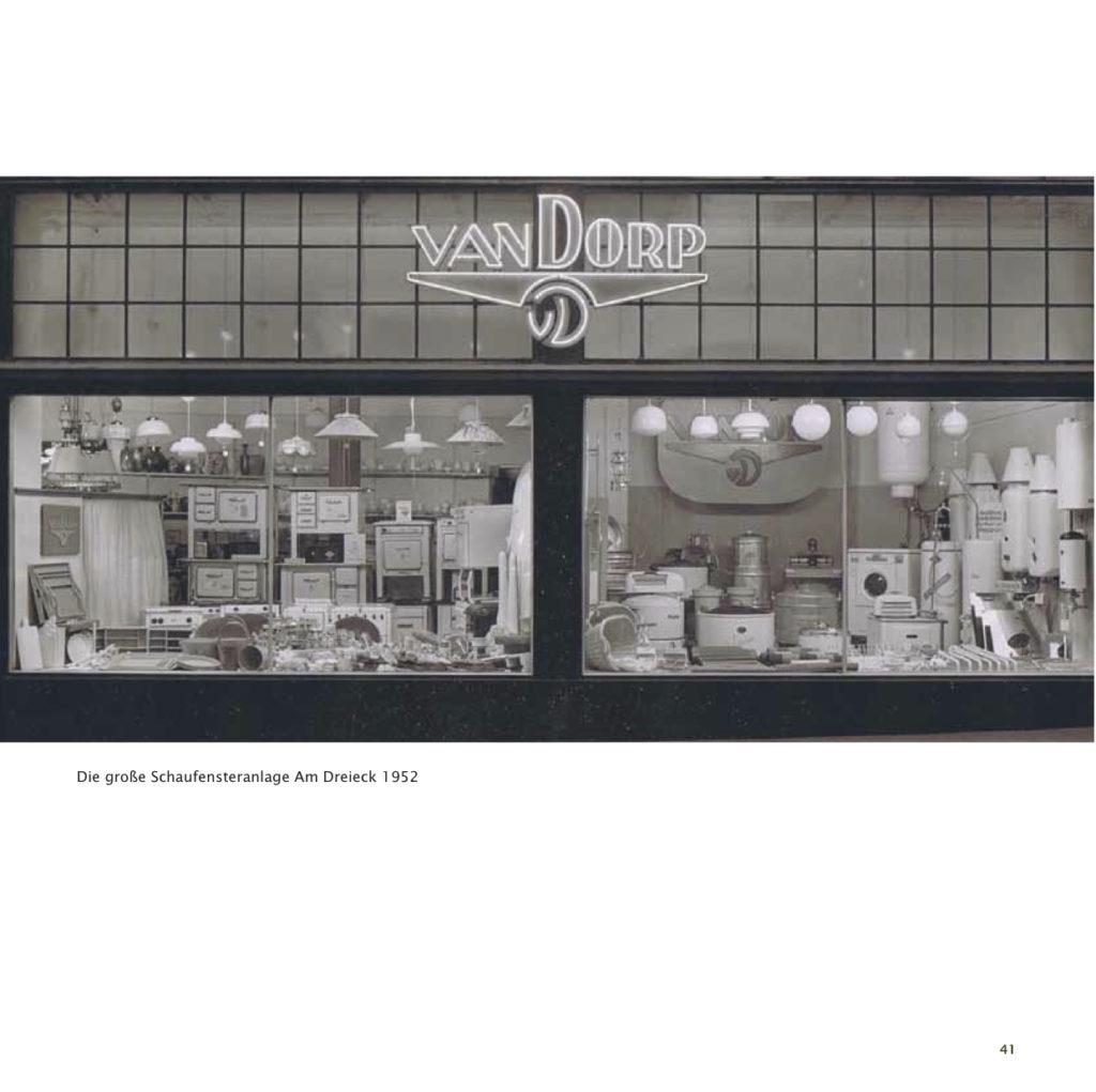 Einrichtungshaus vanDorp Bonn Geschichte Schaufenster