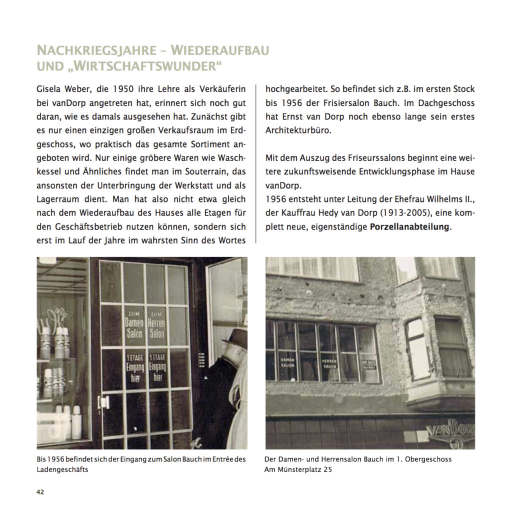 Einrichtungshaus vanDorp Bonn Geschichte Nachkriegsjahre