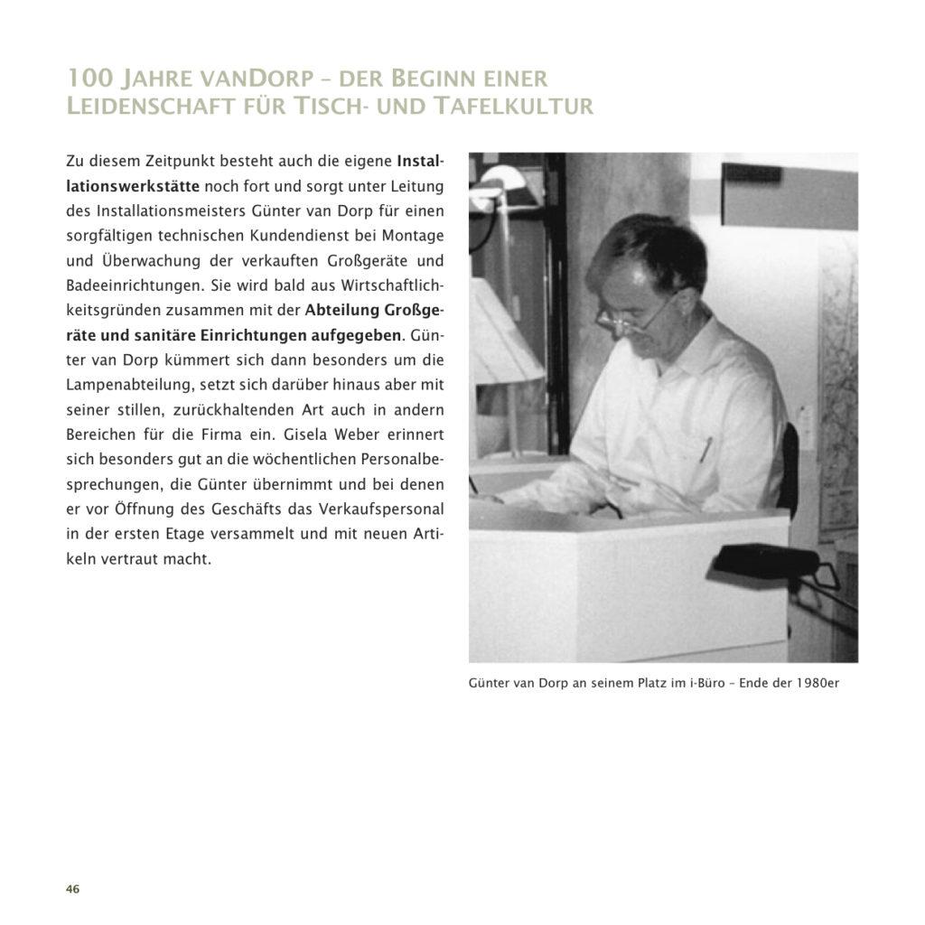 Einrichtungshaus vanDorp Bonn Geschichte 100 Jahre