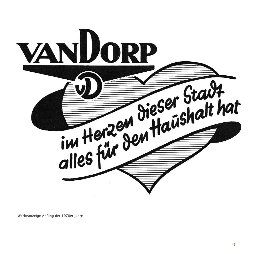 Einrichtungshaus vanDorp Bonn Geschichte Werbung 1970er